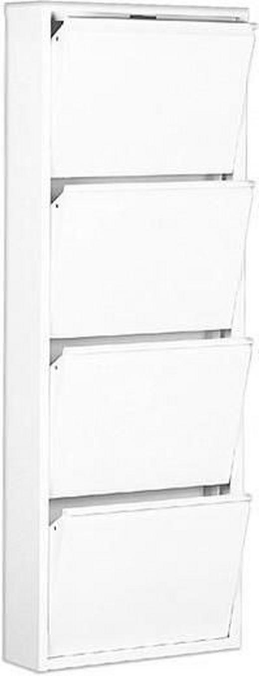 SCHUHKIPPER Weiß - Weiß, Design, Metall (50/136/15cm) - Carryhome