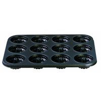 Mini-Gugelhupf-Muffinform - Schwarz, Basics, Metall (27/38cm) - Kaiser