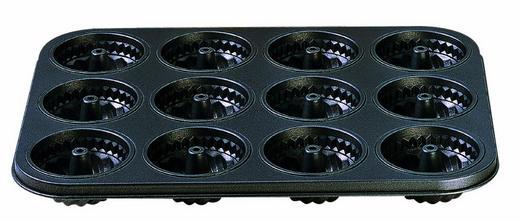 Mini-Gugelhupf-Muffinform - Schwarz, Basics, Metall (27/38/cm) - Kaiser