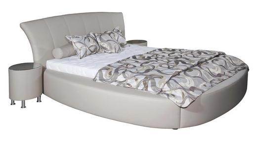 POLSTERBETT Lederlook 160/200 cm - Chromfarben/Schlammfarben, Design, Textil/Metall (160/200cm) - Xora