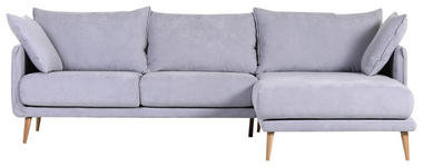 WOHNLANDSCHAFT in Textil Hellblau  - Naturfarben/Hellblau, Design, Holz/Textil (270/160cm) - Carryhome
