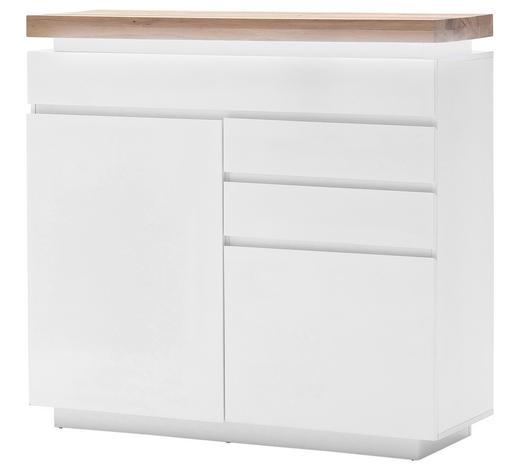KOMMODE 120/114/40 cm - Eichefarben/Weiß, Design, Holz/Holzwerkstoff (120/114/40cm)