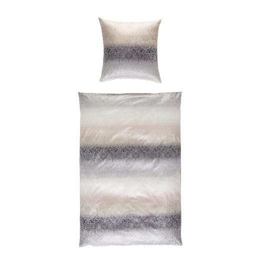 BETTWÄSCHE Jacquard Grau 135/200 cm - Grau, Design, Textil (135/200cm)