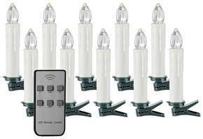 LJUS MED LED - vit/transparent, Basics, plast (1,8/12,5cm) - X-Mas