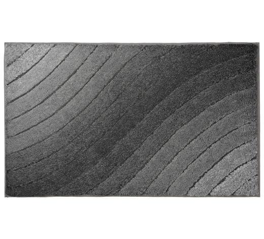 BADTEPPICH in Anthrazit 70/120 cm - Anthrazit, KONVENTIONELL, Kunststoff/Textil (70/120cm) - Kleine Wolke