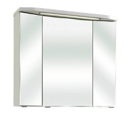 SPIEGELSCHRANK 80/73/18 cm  - Weiß, Design, Glas/Holzwerkstoff (80/73/18cm) - Xora