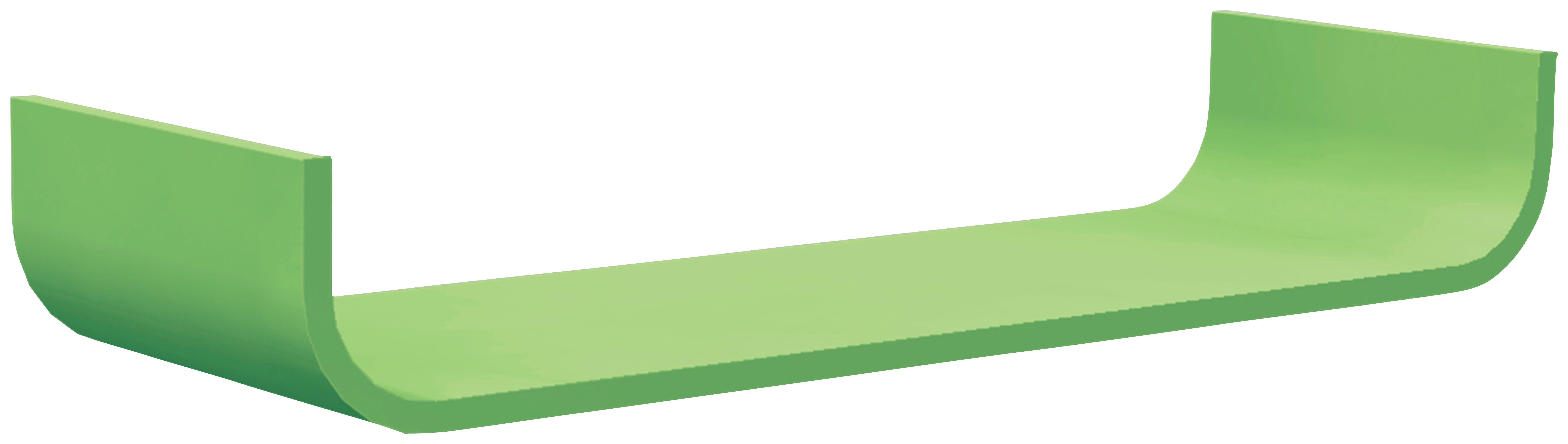 WANDBOARD Birke massiv Grün - Grün, Design, Holz (80/12/25cm) - CARRYHOME