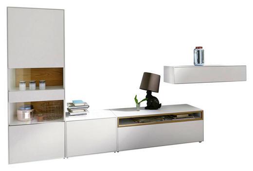 WOHNWAND Eiche furniert Hellgrau, Weiß - Hellgrau/Weiß, Design, Holz (334/162/45cm) - Hülsta - Now
