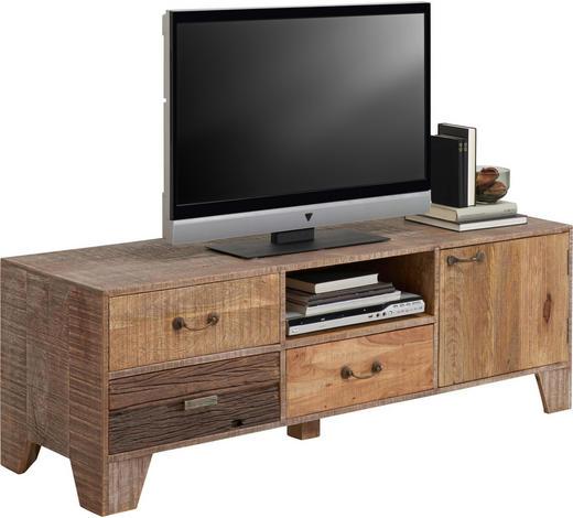 TV DÍL, akácie, mangové dřevo, hnědá - hnědá, Lifestyle, kov/dřevo (148/50/45cm) - Landscape
