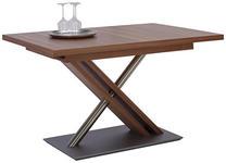 ESSTISCH in Holz, Metall, Holzwerkstoff 130(178)/90/75 cm   - Nussbaumfarben, Design, Holz/Holzwerkstoff (130(178)/90/75cm) - Moderano
