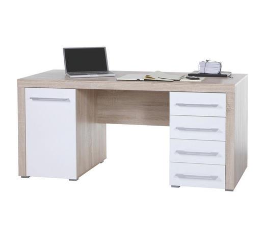 SCHREIBTISCH Sonoma Eiche  - Alufarben/Sonoma Eiche, Design, Holz/Kunststoff (160/75/70cm) - Cantus