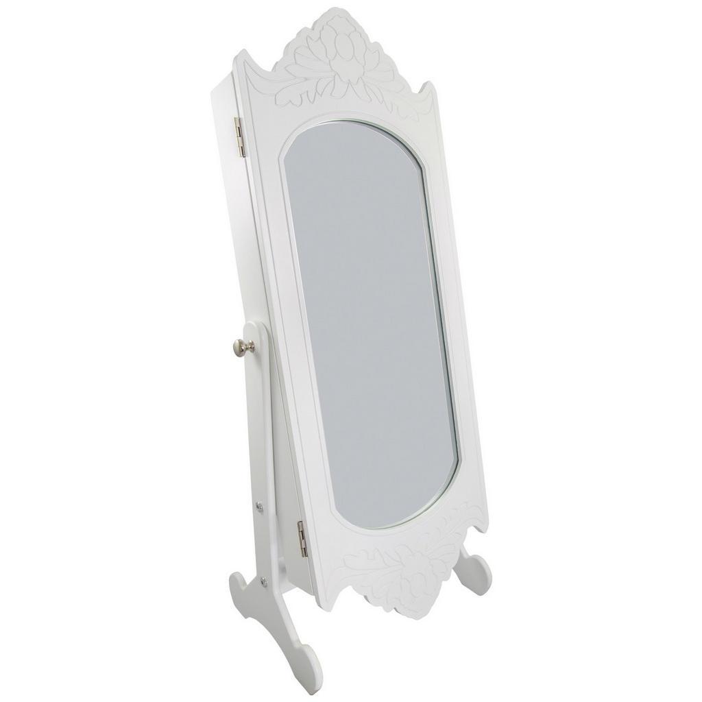 Tisch-Schmuckschrank mit Spiegel und Innenbeleuchtung