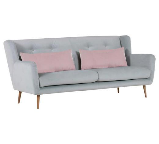 2,5-SITZER in Textil Altrosa, Hellblau - Altrosa/Naturfarben, Design, Textil (205/86/46/90cm) - Carryhome