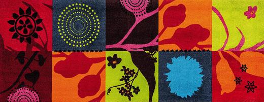FUßMATTE 70/190 cm Graphik Multicolor - Multicolor, Basics, Kunststoff/Textil (70/190cm) - Esposa