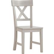STUHL Kiefer massiv Weiß  - Weiß, LIFESTYLE, Holz (43,5/93,5/53cm) - Carryhome