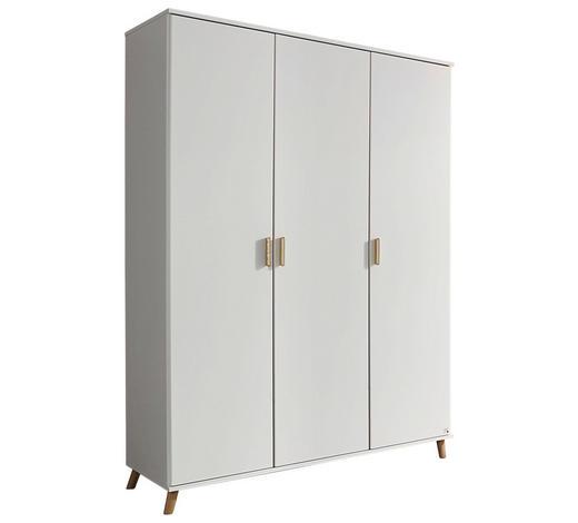 DREHTÜRENSCHRANK in Weiß - Eschefarben/Weiß, Design, Holz/Holzwerkstoff (137/203/53cm) - Carryhome