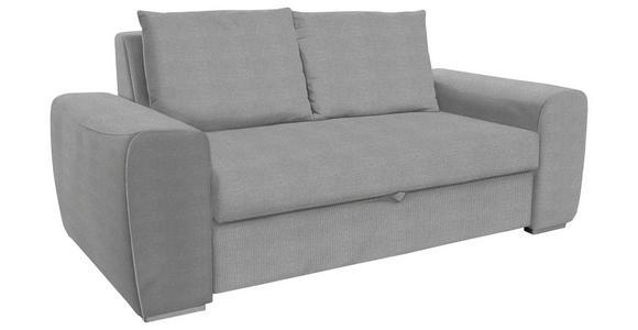 SCHLAFSOFA in Textil Hellgrau - Chromfarben/Hellgrau, Design, Holz/Textil (199/92/97cm) - Hom`in