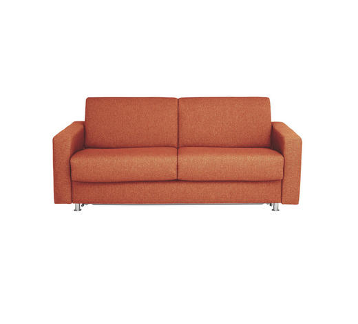 SCHLAFSOFA Flachgewebe Rot - Chromfarben/Rot, KONVENTIONELL, Textil/Metall (195/84/100cm) - Bali