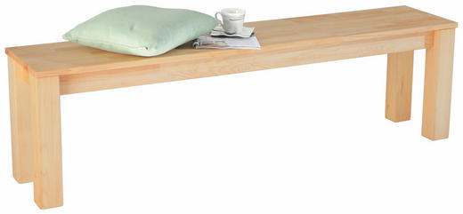 SITZBANK Kernbuche massiv Buchefarben - Buchefarben, Design, Holz (160/45/33cm) - CARRYHOME