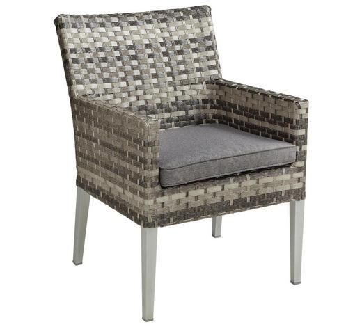 GARTENSESSEL - Grau, KONVENTIONELL, Kunststoff/Textil (59/86/67cm) - Ambia Garden
