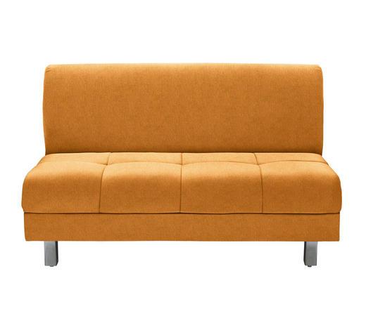 SCHLAFSOFA in Textil Orange - Chromfarben/Orange, MODERN, Textil (144/90/103cm) - Novel