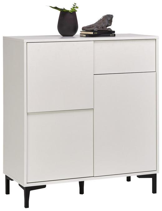 KOMMODE - Graphitfarben/Weiß, Trend, Holzwerkstoff/Kunststoff (84/92/38cm) - Carryhome