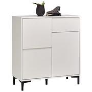 KOMODA - bílá/barvy grafitu, Trend, kompozitní dřevo/umělá hmota (84/92/38cm) - Carryhome
