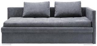 LIEGE in Textil Grau  - Chromfarben/Grau, KONVENTIONELL, Kunststoff/Textil (217/85/104cm) - Venda