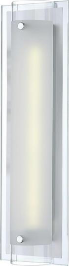 LED-WANDLEUCHTE - Chromfarben, LIFESTYLE, Glas/Metall (40/12/8,5cm)