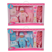 BABYPUPPE - Blau/Rosa, Basics, Kunststoff/Textil (30cm) - Simba