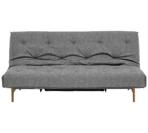 SCHLAFSOFA in Holz, Metall, Textil Grau  - Eichefarben/Grau, Design, Holz/Textil (200/86/97cm) - Innovation