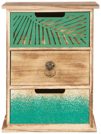 DEKORATIONSASK - grön, Trend, metall/trä (22/30,5/10cm) - AMBIA HOME