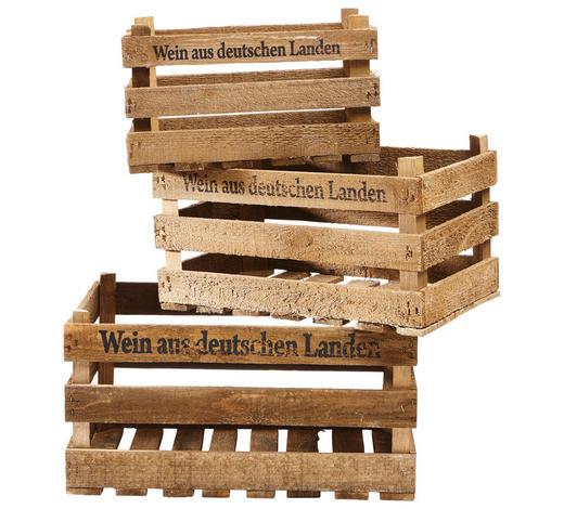 Weinkisten-Set 3-teilig - Braun, Holz