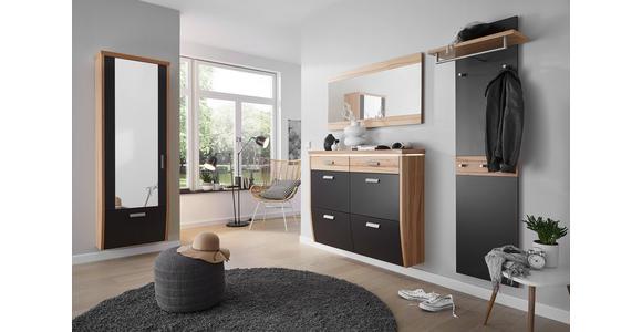 SCHUHSCHRANK 123/95/32 cm  - Silberfarben/Buchefarben, Design, Holz/Holzwerkstoff (123/95/32cm) - Dieter Knoll
