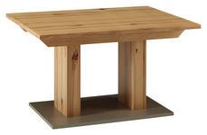ESSTISCH in Holz 130/90/76 cm - Edelstahlfarben/Buchefarben, KONVENTIONELL, Holz (130/90/76cm) - Venda
