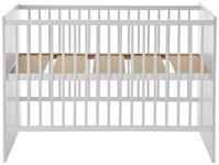 GITTERBETT  124/65/86 cm  - Weiß, Basics, Holz (124/65/86cm) - My Baby Lou