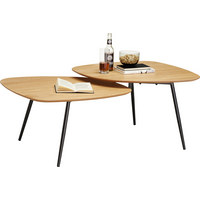 COUCHTISCH in Holz, Holzwerkstoff, Metall 120/65/45 cm - Eichefarben/Schwarz, Design, Holz/Holzwerkstoff (120/65/45cm) - Carryhome