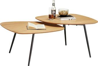 KONFERENČNÍ STOLEK - barvy dubu/černá, Design, kov/dřevo (120/45/65cm) - CARRYHOME