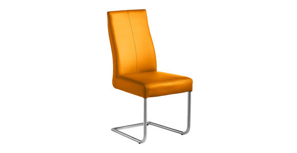 SCHWINGSTUHL Lederlook Edelstahlfarben, Gelb - Edelstahlfarben/Gelb, Design, Textil/Metall (46/97/59cm) - Valnatura