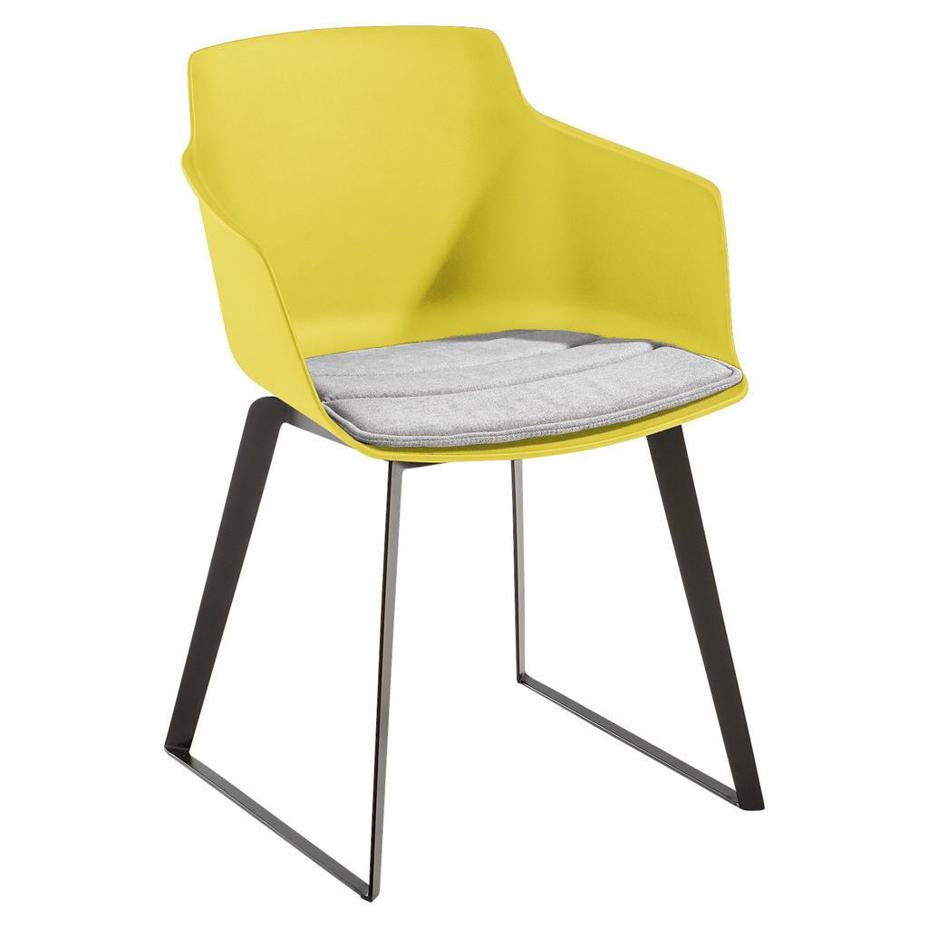 Novel Armlehnstuhl webstoff gelb