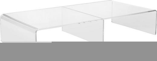 TV-AUFSATZ  Kunststoff  Klar - Klar, Design, Kunststoff (80/15/40cm)