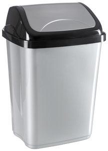 KANTA SA KLATNOM - Crna/Srebrna, Osnovno, Plastika (19,5/25/37,5cm) - Homeware
