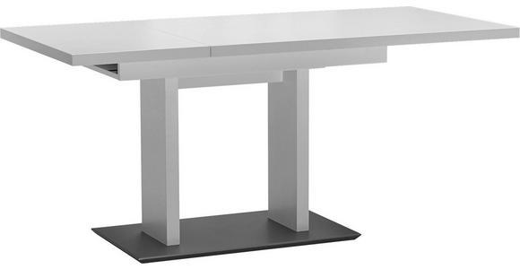 ESSTISCH in Metall, Holzwerkstoff 120(168)/80/75 cm   - Edelstahlfarben/Weiß, Design, Holzwerkstoff/Metall (120(168)/80/75cm) - Dieter Knoll