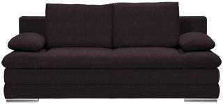 SCHLAFSOFA in Textil Dunkelbraun  - Chromfarben/Dunkelbraun, MODERN, Textil (203/90/102cm) - Carryhome