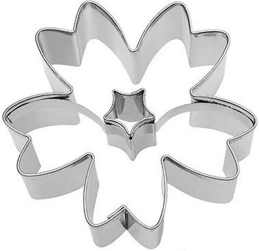 KEKSAUSSTECHFORM - Edelstahlfarben, Basics, Metall (6,5/6,5/2,5cm) - Birkmann
