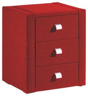 SÄNGBORD - röd/silver, Basics, metall/textil (47/56/41cm) - Esposa