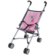 PUPPENWAGEN - Rosa, Basics, Textil/Metall (41/27,5/55cm) - My Baby Lou