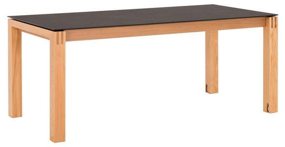 ESSTISCH in Holz, Kunststoff 200(300)/100/76 cm  - Eichefarben/Graphitfarben, Design, Holz/Kunststoff (200(300)/100/76cm) - Dieter Knoll