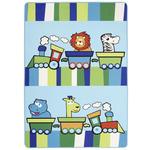 Kinderteppich Tiermotive Blau / Bunt Lionel 100x150 cm - Blau, Textil (100/150cm) - Luca Bessoni