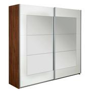 SKŘÍŇ S POSUVNÝMI DVEŘMI, bílá, barvy dubu - bílá/barvy dubu, Konvenční, kov/kompozitní dřevo (226/210/62cm) - Xora